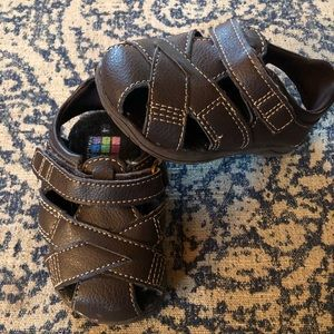 Sweetest little brown leather toddler sandals